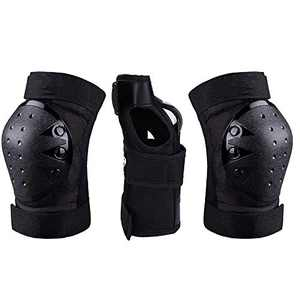 Knee Pads for Men, Women, Kids, Toddler/Adult Elbow Pads Wrist Guards 3 in 1 Protective Gear Set for Skateboard, Volleyball, Bike, Cycling, Skating, Roller Inline Skating, Rollerblading Sports(Medium)