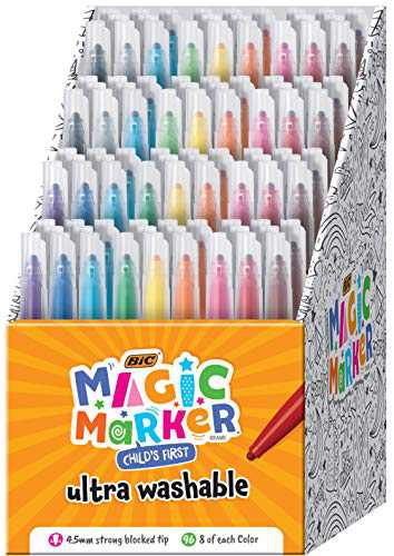 BIC Child's First Magic Marker, Assorted Colors, 96-Count