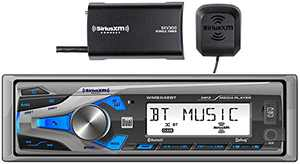 Dual Electronics WMSX42BT Marine Stereo LCD Single DIN with Built-in Bluetooth, SiriusXM SXV300 Tuner, USB Port and $70 Online/Mail-in Rebate