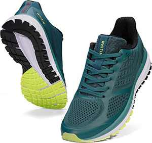 JOOMRA Men Running Shoes Walking Jogging Workout Fitness Size 7 Green Lightweight Autumn Cushion Breathable Teens Boys Lace up Runny Gym Sport Tennis Sneakers for Man 40