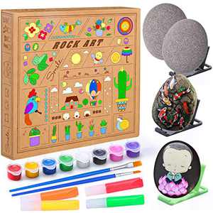 Epeolatry Easter Gifts, Rock Painting Kit for Kids - Arts and Crafts for Girls & Boys Ages 6-12 - Craft Kits Art Set - Supplies for Painting Rocks,Great Creative Gift for Boys Girls