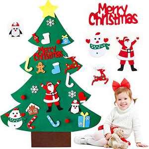 Christmas Decorations Christmas Tree Felt Christmas Tree with Ornaments Christmas Ornaments Christmas Decor DIY Felt Christmas Tree Felt Christmas Tree for Kids (3.3FT Kids Felt Christmas Tree)
