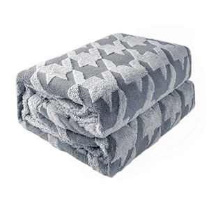 """DISSA Sherpa Fleece Blanket Throw Blanket Soft Blanket Warm Cozy Plush Fluffy Blanket Dual Sided Throw Blanket Perfect Throw for All Seasons for Couch Bed Sofa (Light Grey, 51""""x63"""")"""