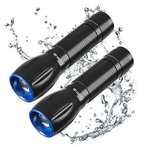 Euyee E3 Zoomable Handheld Flashlight -600 Lumens Flashlight with 3 Modes,IPX65 Waterproof,Long lasting for Camping, Hiking, Emergency(2 Pack)
