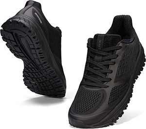 JOOMRA Men's Running Shoes All Black Size 8 Mesh Fitness Walking Jogging Comfy Stylish Lightweight Work Footwear Man Gym Athletic Tennis Sneakers 41