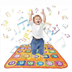 aPerfectLife Kids Musical Mats - Dance Floor Mat Carpet Kids Electronic Interactive Alphabet Wall Chart Touch Playmat Best Educational Toys for Baby Toddler Girls Boys (34 x 30 in)