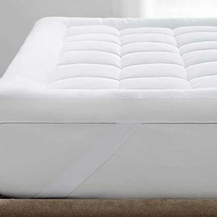 Bedsure Mattress Topper Single Bed - Washable Quilted Mattress Cover Overfilled Mattress Protector, 90×190cm