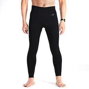 H Hellisal Men's Athletic Yoga Leggings Sports Running Tights Quick Dry Compression Pants for Workout Dance Black M