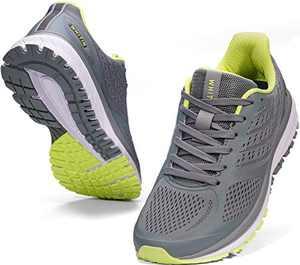 JOOMRA Men's Workout Shoes for Running Grey Size 8 Fitness Walking Jogging Teens Boys Lightweight Footwear Man Gym Athletic Tennis Sneakers 41