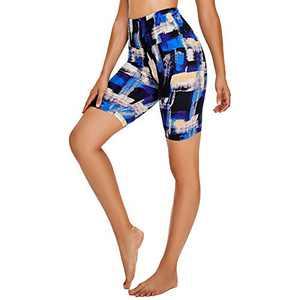 "TNNZEET 8"" Buttery Soft Biker Shorts for Women – Print High Waisted Workout Yoga Athletic Shorts"