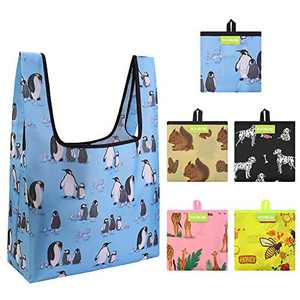 5 Pack Reusable Grocery Shopping Bags Utility Large Foldable Durable Tote Bag