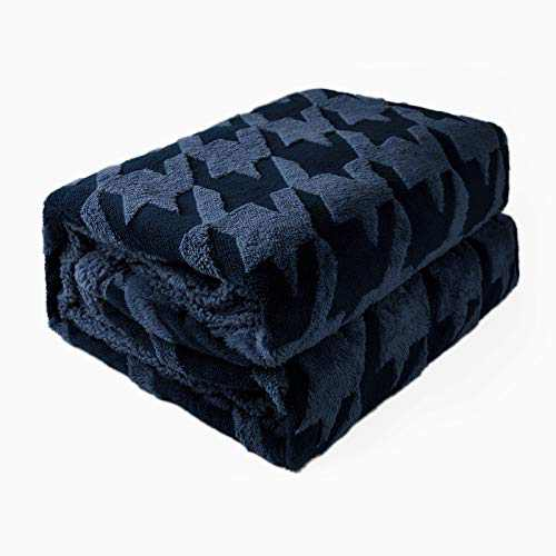 """DISSA Sherpa Fleece Blanket Throw Blanket Soft Blanket Warm Cozy Plush Fluffy Blanket Dual Sided Throw Blanket Perfect Throw for All Seasons for Couch Bed Sofa (Dark Blue, 60""""x80"""")"""