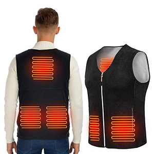 ISOPHO Heated Vest for Men and Women, USB Charging Vest 3-Level Heating for 8 Hours (NO Power Bank) Black M