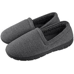 Homitem House Slippers for Men with Fuzzy Lining Mens House Slippers Indoor Outdoor House Shoes for Men with Memory Foam Bedroom Home Warm Slippers