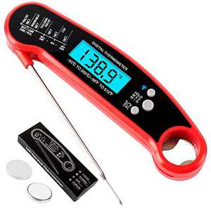 Olaosiry Meat Thermometer for Food Cooking - Digital Instant Read Meat Thermometer - Grilling Thermometer for Turkey Milk BBQ Kitchen Outdoor with Waterproof LCD Backlight
