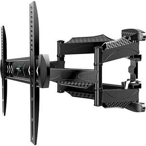 ATUMTEK TV Wall Mount Full Motion Swivel Tilt Extension Rotation for Most 23-55 Inch Flat Curved TVs, Ceiling TV Bracket with Dual Articulating Arms, Max VESA 400x400mm, Holds Up to 80lbs