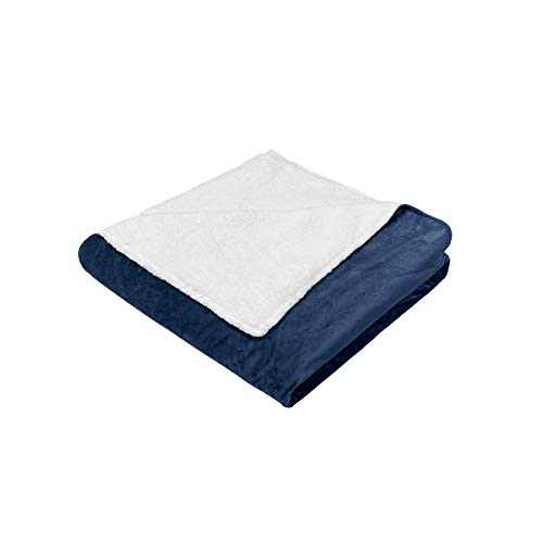 """Syrinx Soft Duvet Cover (Navy Blue/White, 60""""x80"""") for Weighted Blankets Queen Size"""