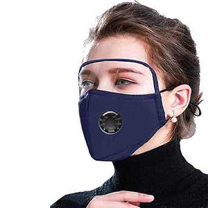 Face Bandanas with Eyes Shield & Breathing valve, Full Protection, Indoors and Outdoors, Anti-Haze Dust, for Adults