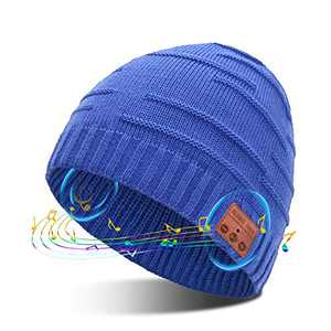 Bluetooth Beanie Mens Winter Hat Novelty Headwear Christmas Stocking Stuffer Gifts for Men Women,Gifts for Teenage Boys Boyfriend Gifts Unique Tech Gifts for Men who Have Everything