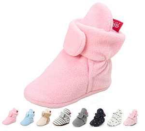 Baby Booties Newborn Fleece Bootie Infant Boys Girls Socks Winter Warm Cotton Slippers Soft First Walkers Shoes