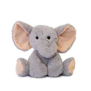 """TCBunny Baby Elephant Bedtime Stuffed Animal Plush Toy 11"""", Kids, Aichie (Grey)"""