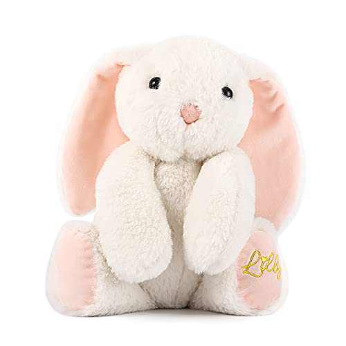"TCBunny Baby Bunny Bedtime Stuffed Animal Plush Toy Stuffer Gifts for Girls, Boys, Kids 11"" (White)"