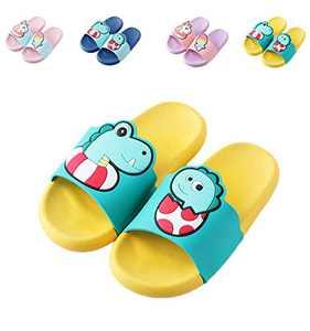 Boys Pool Slides Shower Slides,Non-Slip Sandals,Dinosaur Slippers,Soft Water Shoes For Toddler/Little Kids