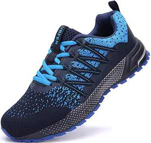 UBFEN Running Shoes for Mens Womens Sports Shoes Casual Footwear Walking Fitness Jogging Athletic Indoor Outdoor Fashion Sneakers 13 Women/12 Men C Blue