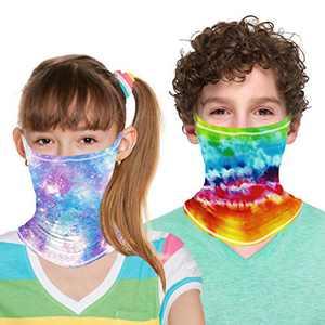 ZukoCert Kids Neck Gaiter Cycling Outdoor Girls Boys Face Scarf Balaclava Dust-Proof Kids Bandanas Kids Face Cover(E)