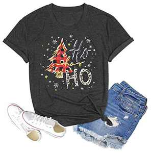 Women's Funny Leopard Printed Shirt Novelty Plaid Tree Graphic Casual Tops(Grey-4, L)