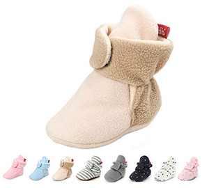 Baby Boy Booties Newborn Infant Baby Girls Boys Winter Warm Fleece Winter Booties First Walkers Slippers Shoes