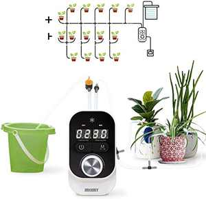 JAKEMY Automatic Drip Irrigation Kit,Mini Size Big Power Houseplants Self Watering System with 1-23 Hour & 1-30 Day Interval Programmable Timer,for 15 Potted Plants