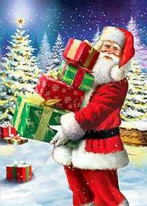 Christmas 5d Full Drill DIY Diamond Painting Kits for Adults Santa Claus Art Decoration Painting (Santa Man 1)