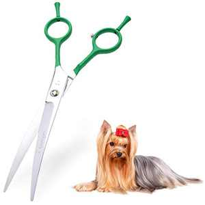 LovinPet Dog Grooming Scissors/grooming Scissors for Dogs/curved Scissors for Dog Grooming/dog Scissors for Grooming/left/right-handed Safety Blunt-tip Dog Scissors for Grooming Eyes for Dogs And Cats