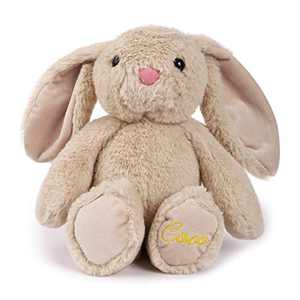 "TCBunny Baby Bunny Bedtime Stuffed Animal Plush Stuffers Toy Gifts 11"" for Girls, Boys, Kids, Coco (Beige)"