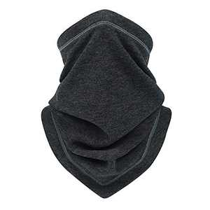 IIY Adjustable Neck Gaiter Warmer Drawstring Face Mask/Face Scarf Windproof Face Covering for Outdoor Sports