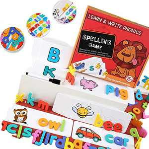 3-in-1 Matching Alphabet Toys, Educational Toys, Kindergarten Preschool Alphabet Spelling and Reading Games, Alphabet Learning Toys, Children's Educational Learning Toys