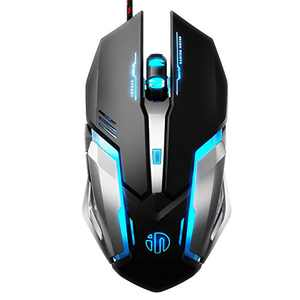 Inphic Gaming Mouse Wired, Ergonomic Game USB Computer Mice RGB Gamer Desktop Laptop PC Gaming Mouse, 7 Programmable Buttons for Windows 7/8/10/XP Vista Linux
