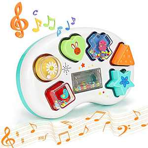 BAODANstore Baby Musical Toys,Toddler Learning Music Shape Toy, Development Musical Toy for 6 Months Infant Baby Girls Boys, with Music and Lighting Up