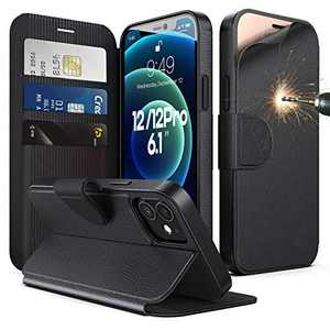 """Humixx Wallet Case for iPhone 12 /iPhone 12 Pro 5G 6.1"""", Kickstand PU Leather Flip Folio Cover with Card Slots & RFID Blocking, Shockproof Wallet Cover Compatible with iPhone 12/12 Pro 6.1 inch, Black"""