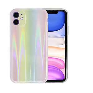 SEENPLEX iPhone 11 Case, Holographic Pattern Aurora Gradient Effect Case TPU Anti-Drop Cover for iPhone 11 6.1 Inch(Rainbow)