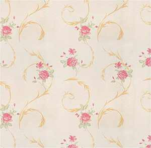 Floral Wallpaper Peel and Stick Wallpaper Rose Floral Self-Adhesive Removable Contact Paper for Shelf Drawer Home Decor Waterproof Vinyl Film 17.7In x 118In