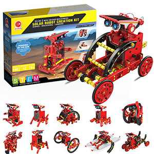 Education STEM 12-in-1 Solar Robot Kit Toys, DIY Learning Building Science Experiment Kit, Stem Projects for Kids Ages 8-12 Year Olds Boys Girls Gifts