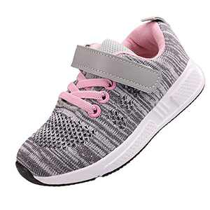 YcamisetaY Toddler Girl's Slip-on Sneakers Mesh Breathable Light Up Running Shoes
