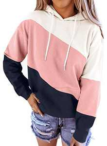 Aleumdr Women Tie Dye Hoodie Sweatshirt Printed Long Sleeve Casual Pullover Hooded Tops Pink X-Large 16 18