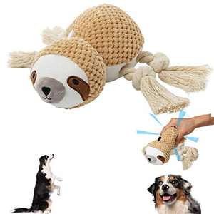 Geburun Dog Plush Toys, Interactive Stuffed Dog Chew Toys Squeaky Dog Toys for Medium Dog Puppy Small Large Dogs Suitable for Aggressive Chewers(Sloth)