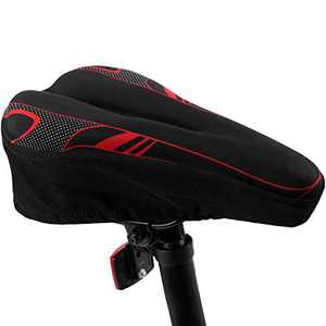 YINTAI Bike Seat Covers Gel-Bicycle Saddle Cushion with Memory Foam for Women Man & Kids to Ride on BMX,Confort,Electric,Fixed Gear,Mountain,Road,Cyclocross,Tandem Bikes
