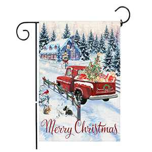pinata Christmas Garden Flag 12 X 18 Inch Double Sided, Decorative Merry Christmas Yard Flag, Winter Holiday Outdoor Decorations Seasonal Banners