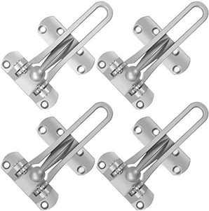 4 Packs Heavy Duty Security Door Lock Front Door Locks for Kids, Home Reinforcement Lock for Swing-in Doors, Thicken Solid Stainless Steel