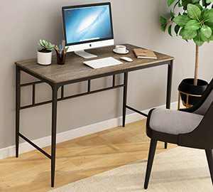 O&K Furniture Computer Desk, Industrial Computer Table Office Desk Workstation for Home Office,47 inch Study Writing Desk,Oak